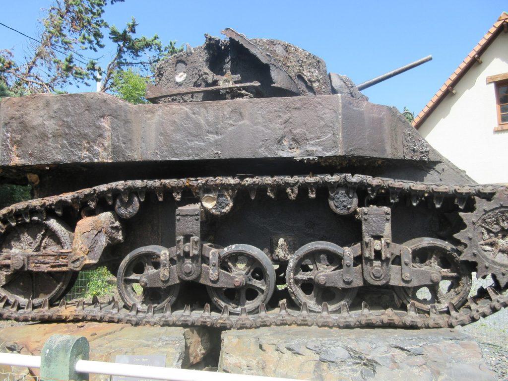 Un tank au musée des épaves sous marines. Comme quoi il n'y a pas que des épaves de bateaux dans la mer !